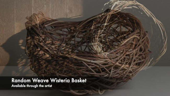 Wisteria random weave basket