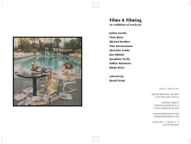 Bischoff Projects, Frankfurt - Film and Filming