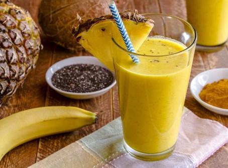 🍍🍊Smoothie d'ananas et graines de chia
