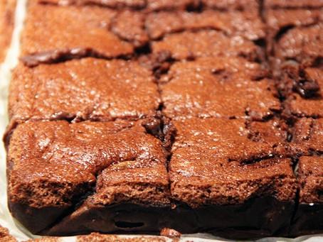 Brownie chocolat noir - banane à l'okara d'amande