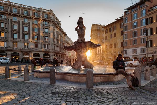 Fontana del Tritone - piazza  Barberini