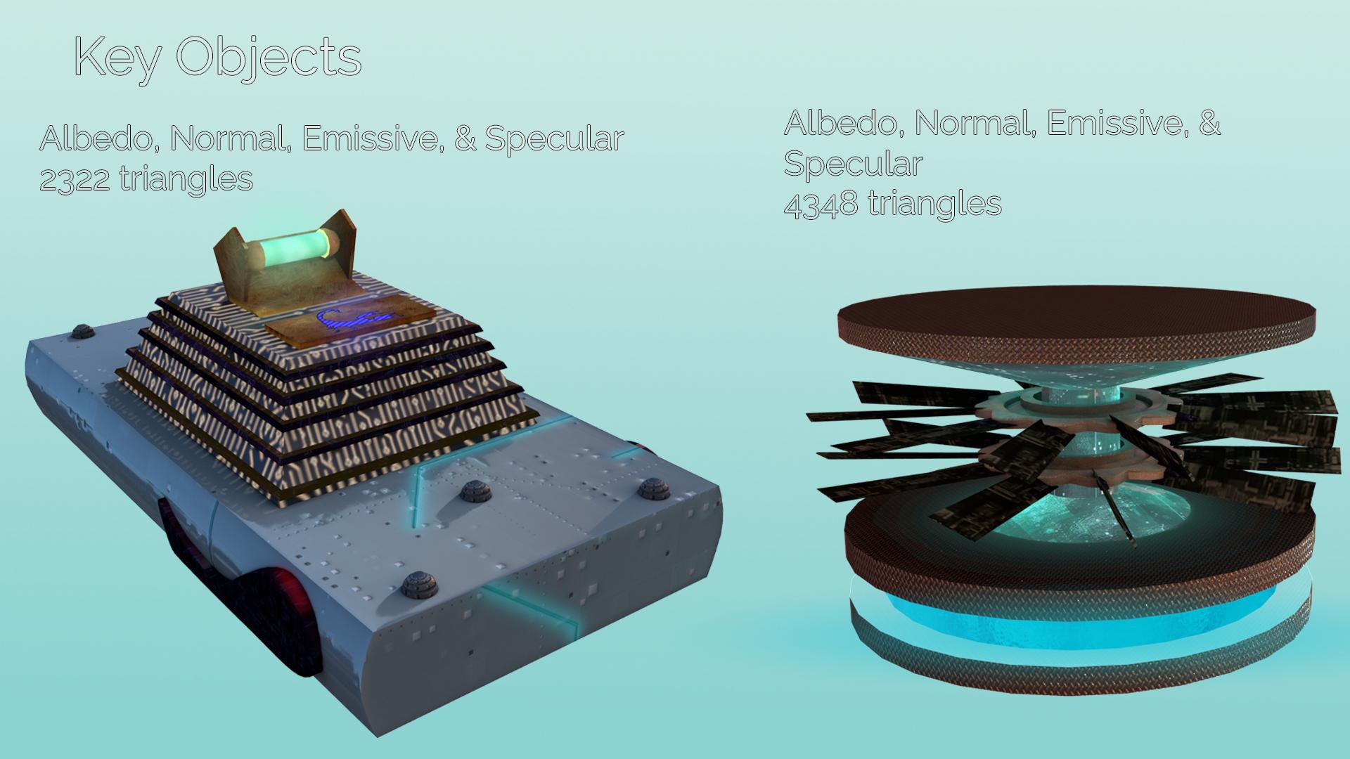 3D Spaceship Parts
