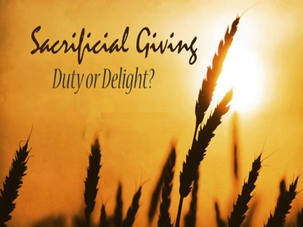 We Are Gifted for Sacrificial Giving