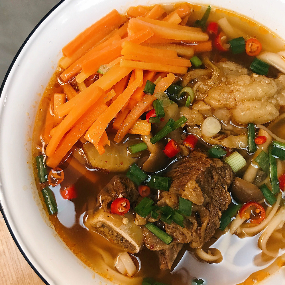 Spicy Galbi Tang Beef Noodles