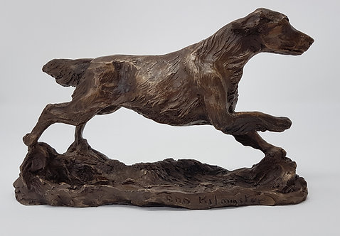 Cold Cast Bronze Sculpture of a Flatcoated Retriever by Ann Kilminster