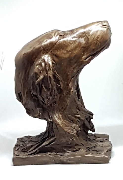 Flatcoated Retriever Female in Cold Cast Bronze to the highest standard, by Ann Kilminster