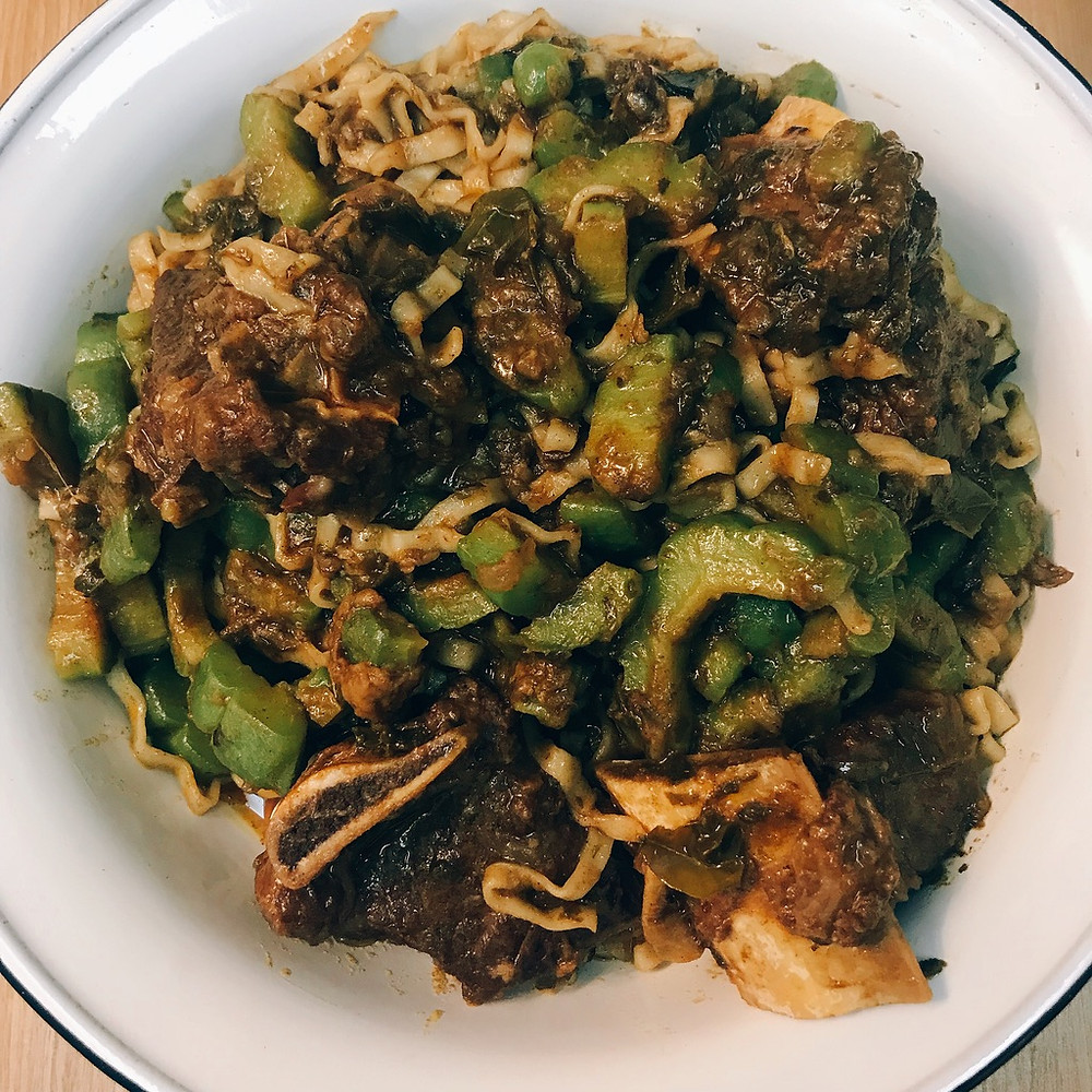 Beef and Bitter Gourd Noodles