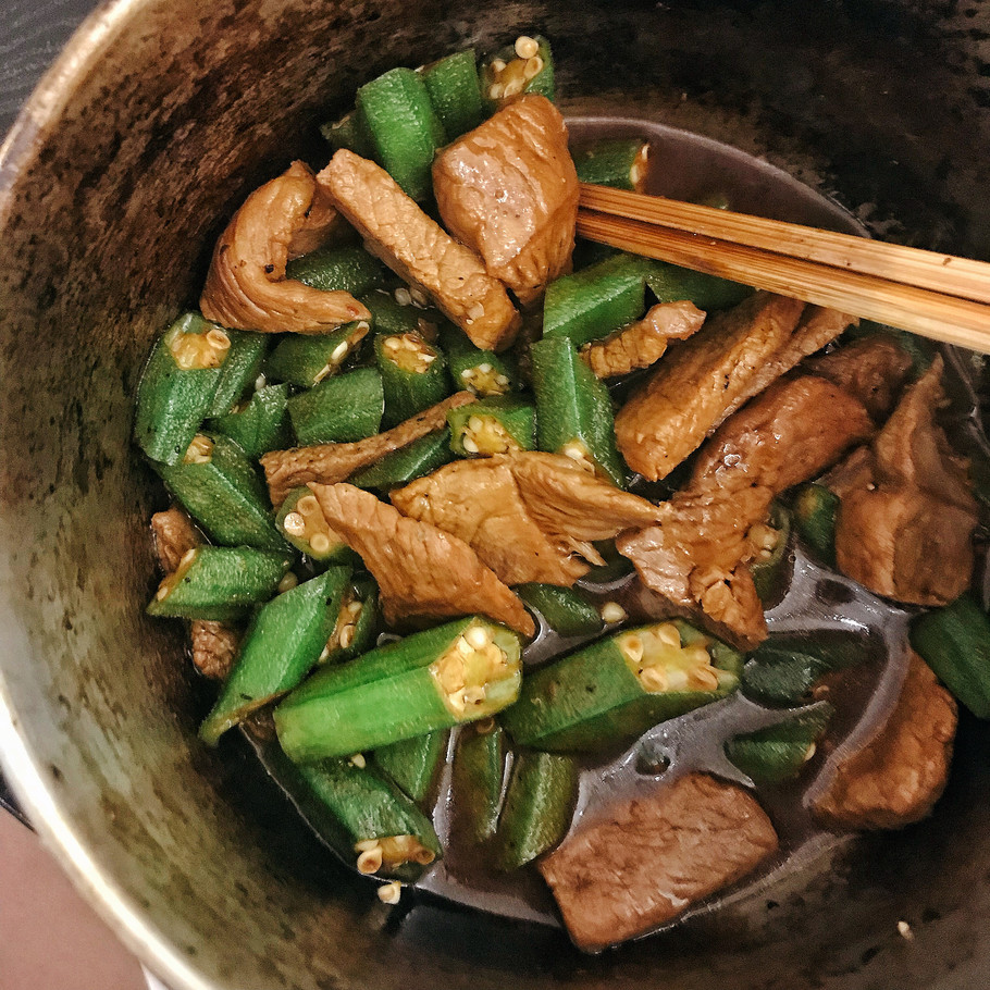 Sesame Beef & Okra | Ready in 20 minutes