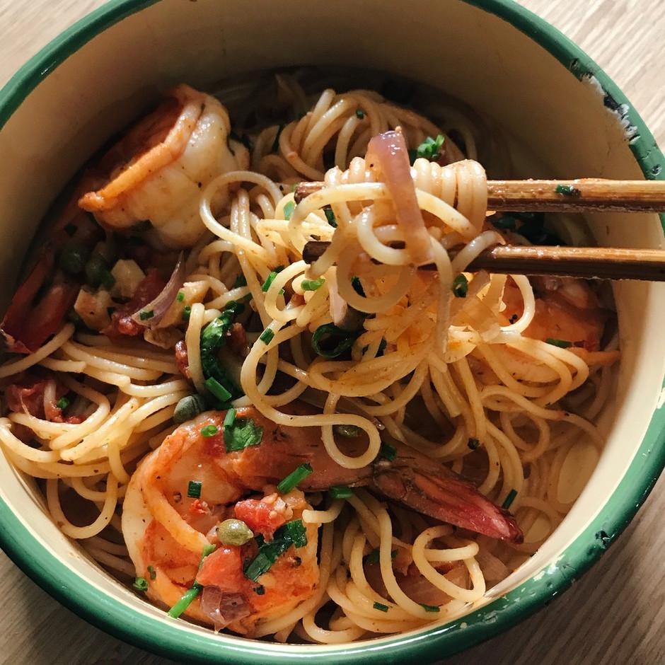 Amped Up Pasta Puttanesca