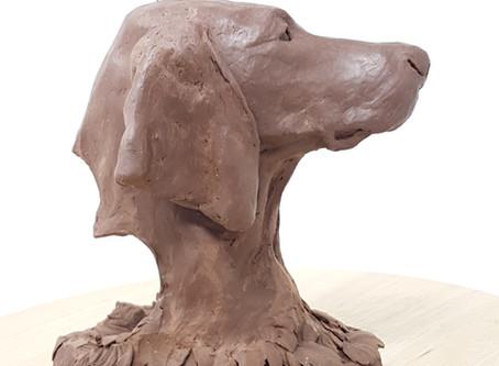 New Vizsla Sculpture in Progress
