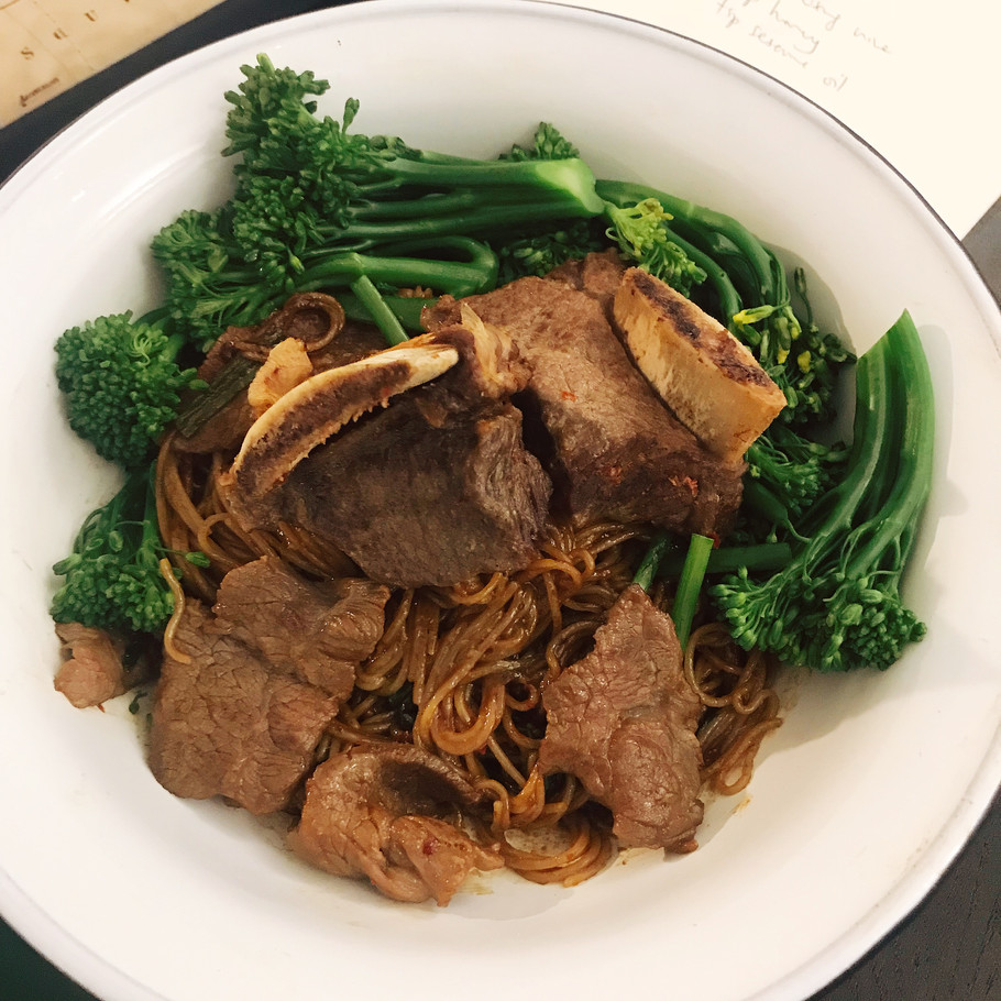 Braised Beef Ribs Noodles