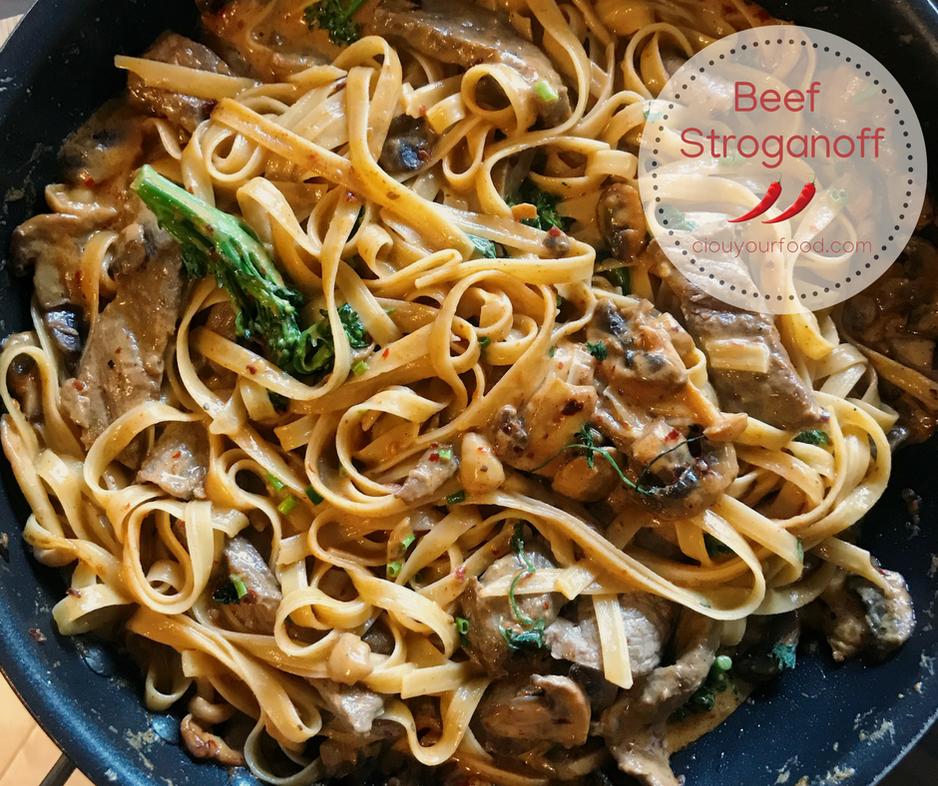Full-Flavour Beef Stroganoff
