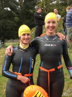 Adie Left and Evie Right at the start