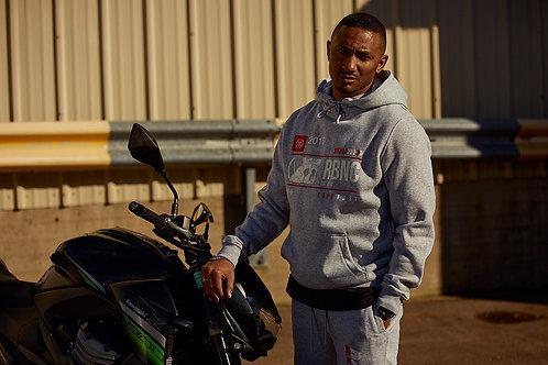 Racing hoodie grey