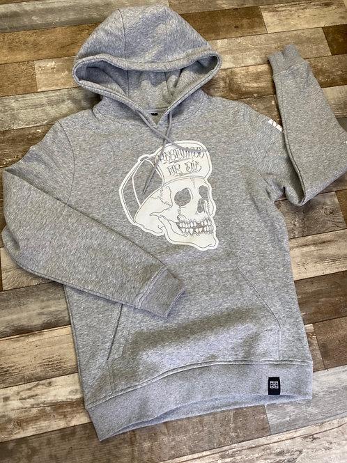 Skull Icon logo grey