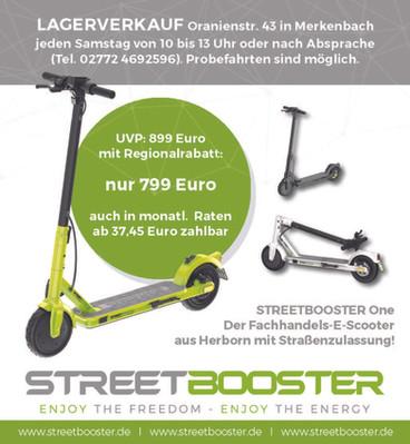 Anzeige STREETBOOSTER