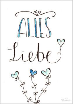 "Postkarte ""AllesLiebe"""
