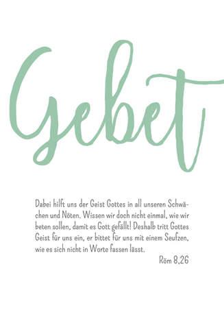 "3er Set Poster Wohnraum ""Gebet"""