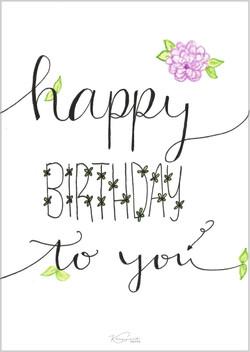 """Postkarte """"Birthday"""""""