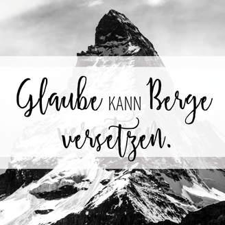 """Poster Wohnraum """"Berge"""""""