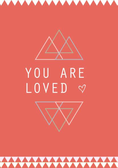 """Poster Kinderzimmer """"loved"""""""