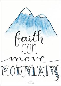 """Postkarte """"Faith"""""""