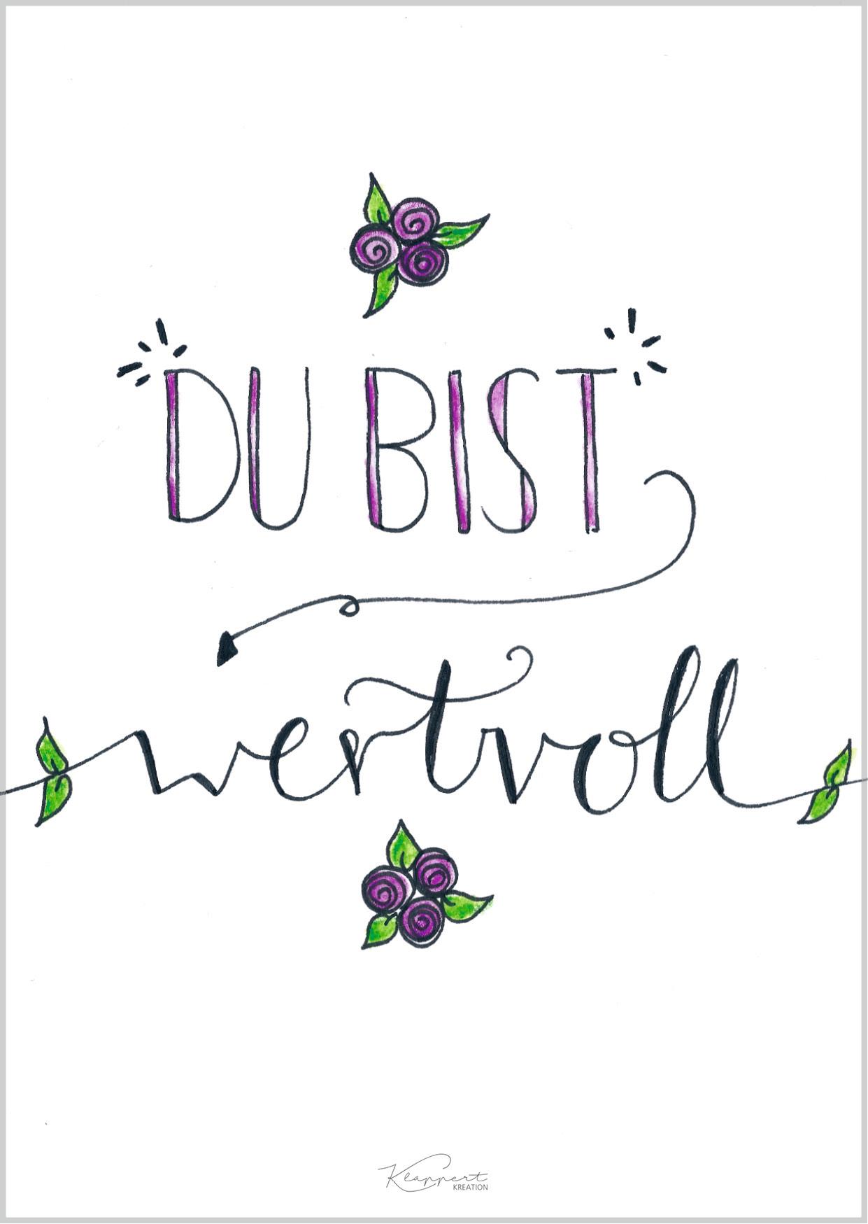 "Postkarte ""Wertvoll"""