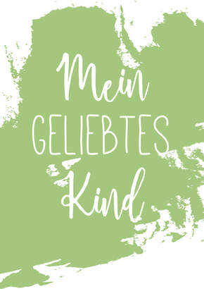 "Poster Kinderzimmer ""Kind"""