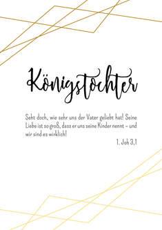 """Poster Wohnraum/Kinderzimmer """"Tochter"""""""