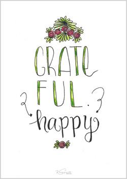 """Postkarte """"Grateful"""""""