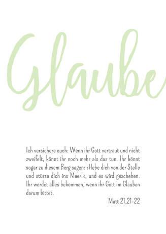 "3er Set Poster Wohnraum ""Glaube"""