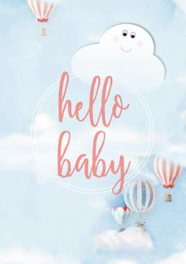 """Poster Kinderzimmer """"Ballons"""""""