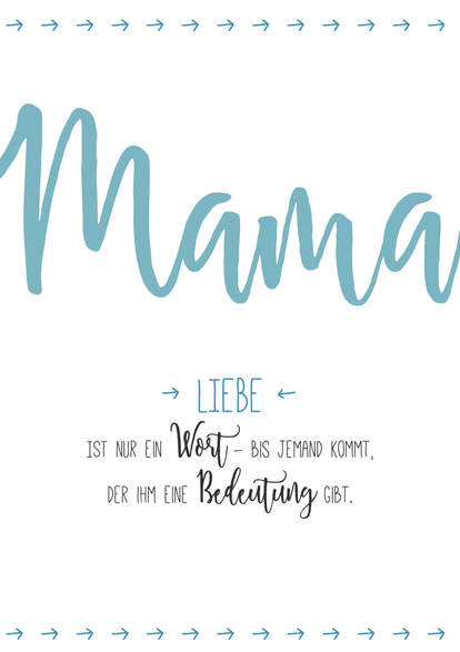 "Poster Muttertag ""Liebe"""