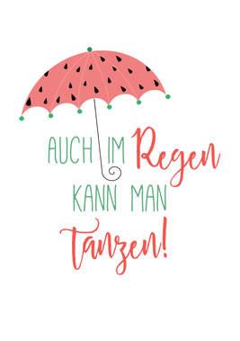 """Poster Kinderzimmer """"Regen"""""""
