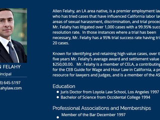 Felahy Employment Lawyers: Contact us to discuss your legal questions - (323) 645-5197 & info@fe