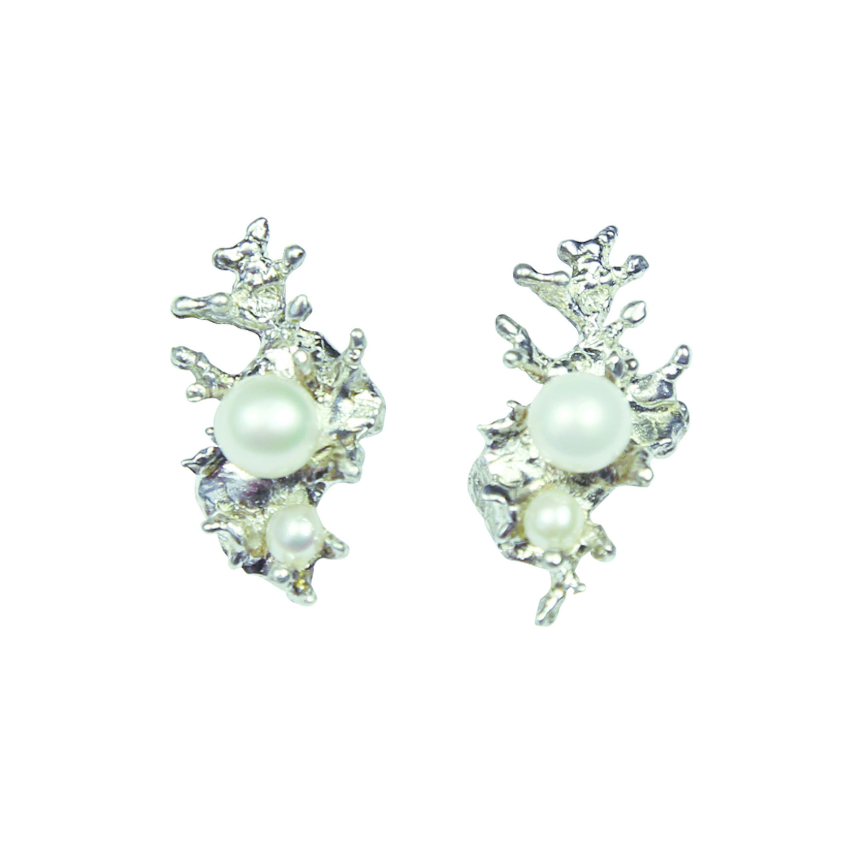 Assymetric Pearl Earrings