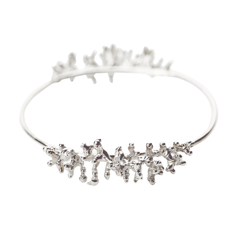 Silver Coral Bracelet