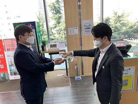 판매서비스직 아웃소싱 전문기업 중앙M&H 매장 내 코로나19 확산방지 캠페인 전개