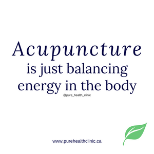Acupuncture is just balancing energy in the body