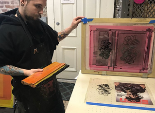 Screen Printing Workshop with KyCAD's Illustration Class