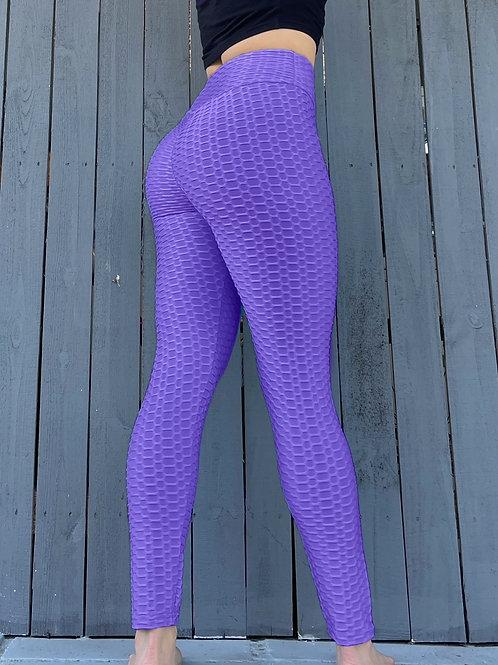 Purple Scrunch Leggings