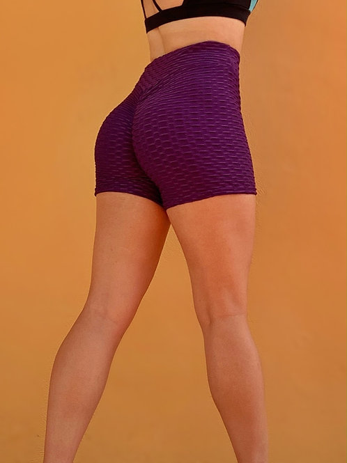 Purple Scrunch Shorts