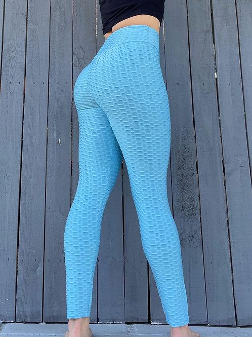 Sky Blue Scrunch Leggings