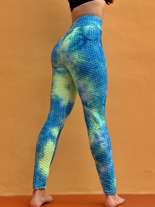 Neon/Blue Scrunch Leggings