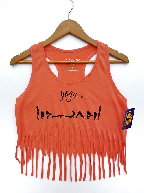 Yoga. Sun Salutation (coral pink)