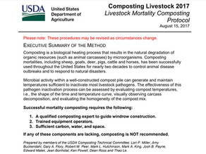 Livestock Mortality Composting Protocol/Carcass Management in Developing Countries
