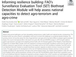 New FAO Surveillance Evaluation Tool (SET) Biothreat Detection Module