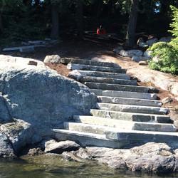Natural granite stairs