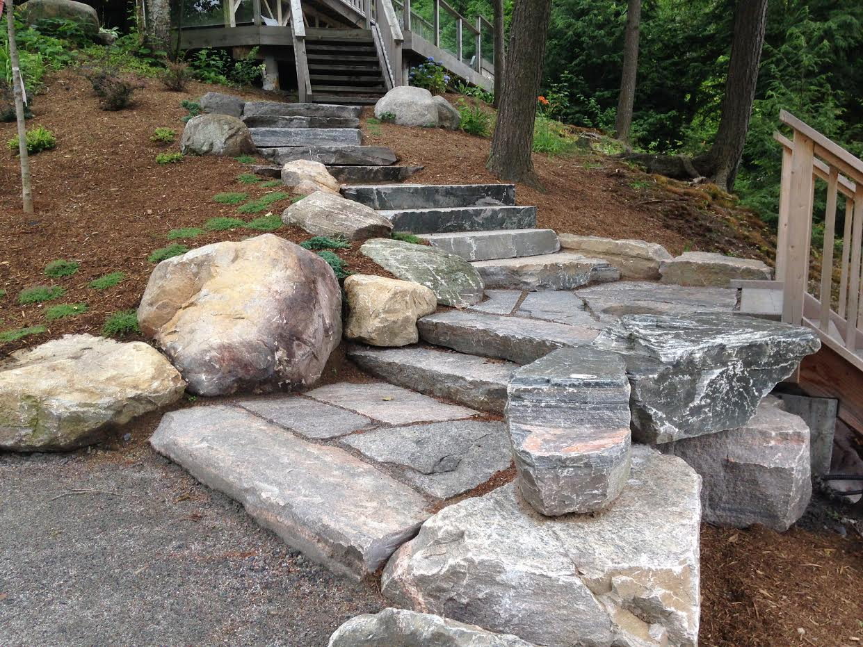 Skeleton Lake Granite stairs