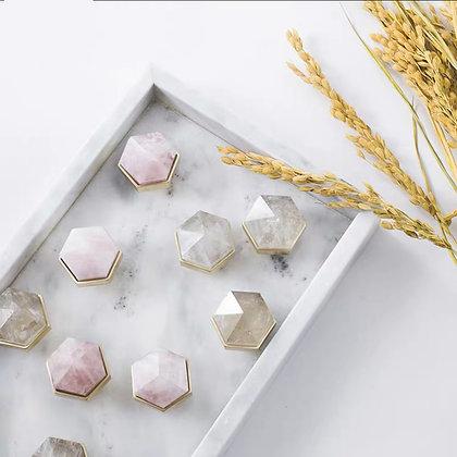 Senga Cristal Hexagon Button